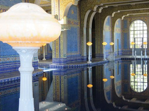In addition to panoramic views of the Pacific, Hearst Castle has two swimming pools that are works of art — the outdoor Neptune Pool and the indoor Roman Pool (pictured).