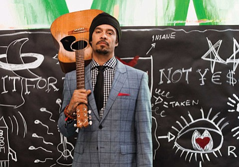<b>WELL SUITED:</b> Chill-out music megastar Michael Franti headlines the Soulshine Tour this week at the S.B. Bowl.