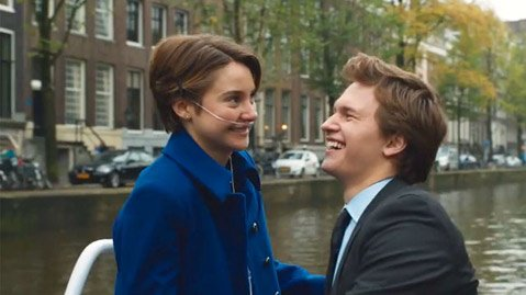 <b>STAR-CROSSED:</b>  Shailene Woodley plays a terminally ill teen opposite Ansel Elgort in this faithful adaptation of young-adult best seller <i>The Fault in Our Stars</i>.