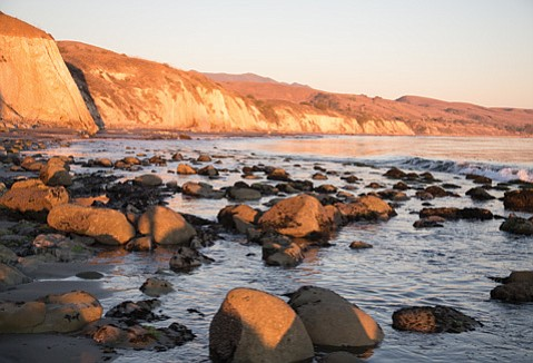 <b>COAST WITH THE MOST: </b> Here's one of the many isolated beach scenes to be found between Gaviota State Park and Haskell's Beach.