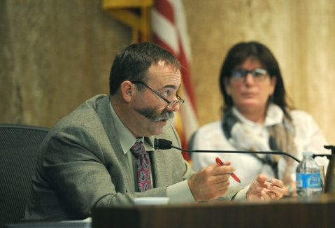 Supervisor Peter Adam exasperated his colleagues with his vote against the budget