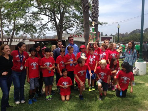 The Math Superbowl team from Mountain View elementary won first place among the schools.