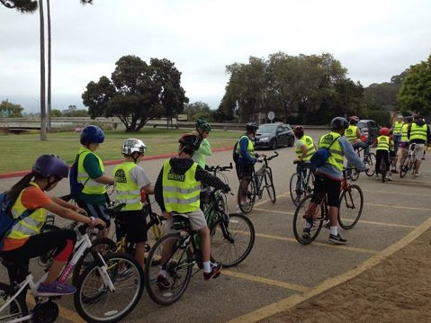 Bici Centro's Youth Bicycle Summer Camp at Goleta Beach.