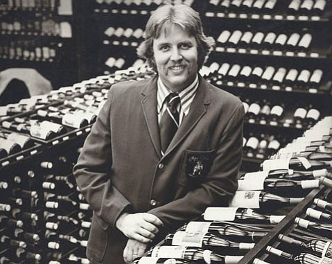 Chris Whitcraft at Mayfare Wines in 1976.