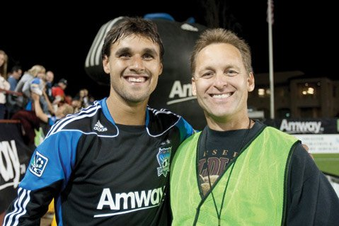 <b>FAMILY TIES:</b> Carpinteria's Mike Wondolowski (right) made the trek to Brazil to cheer on his nephew Chris Wondolowski (left) and the rest of the U.S. soccer team.