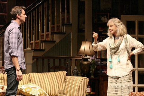 Scott Foley and Blythe Danner in <i>The Country House</i>.