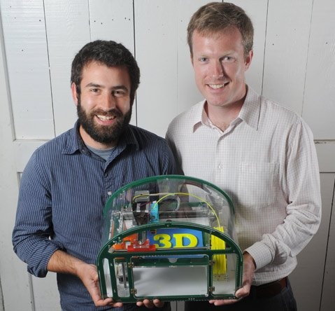 <b>SCIENCE-FAIR BUDS:</b>  Gabe Rosenhouse (left) and Brian Jaffe used to test the speed of sound for science fairs in middle school. Today, they're perfecting the Printeer, one of the most innovative 3D printers on the planet, all from Jaffe's Mission Street garage.