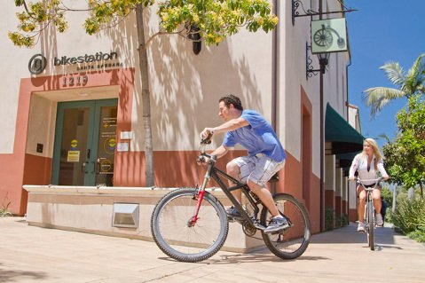 Santa Barbara's Bikestation at Anacapa and Anapamu streets offers a safe place to leave your bicycle and lockers and showers for commuters.