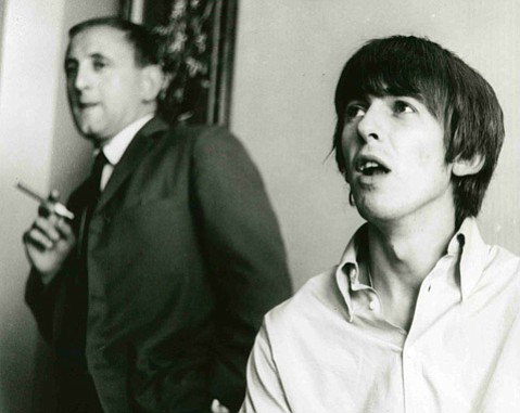 <b>GHOSTWRITER:</b>  Ivor Davis (left) accomp­anied the Beatles on their 1964 tour, ghostwriting a column by George Harrison.