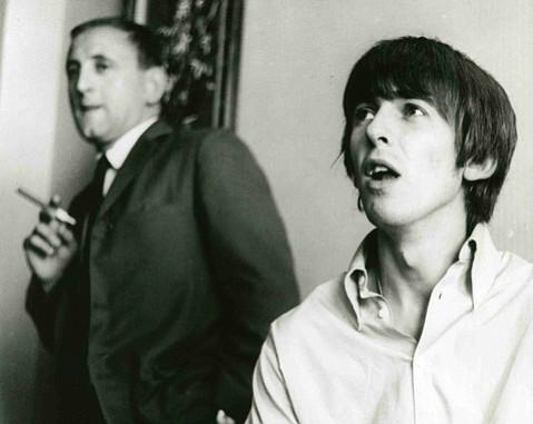 <b>GHOSTWRITER:</b>  Ivor Davis (left) accompanied the Beatles on their 1964 tour, ghostwriting a column by George Harrison.
