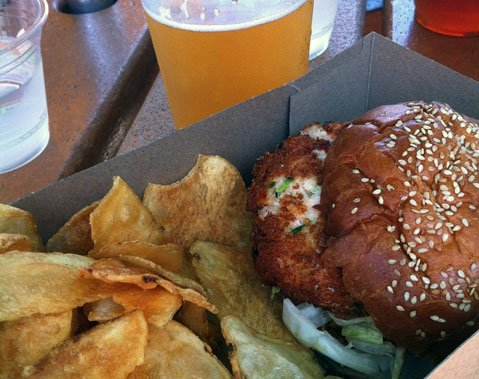 "Crab Cake ""Burger"" @ On the Alley"