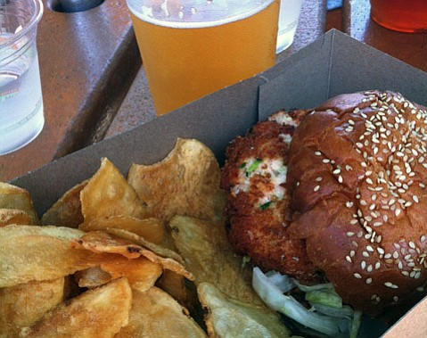 """Crab Cake """"Burger"""" @ On the Alley"""