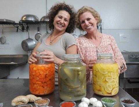 Cultured & Saucy's Simone Temkin-Wilcox (left) and sister Lauren Temkin