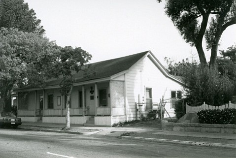 The Rochin adobe, circa 1990