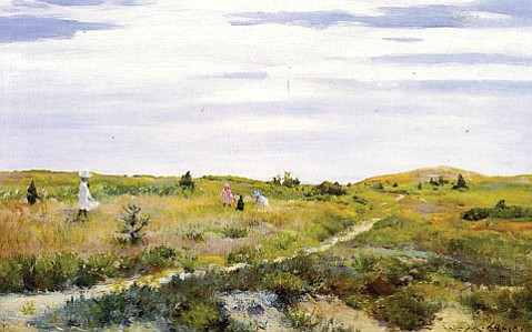 """William Merritt Chase painted """"Along the Path at Shinnecock"""" (c. 1902) at the height of both his powers as a painter and his success as an artist and a teacher."""