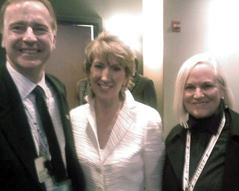 <b>BURNED BRIDGES:</b>  David Lack (left) with Mary Belle Snow (right), in better days before she accused him of embezzlement, are shown here with Carly Fiorina, then a GOP candidate for U.S. Senate.