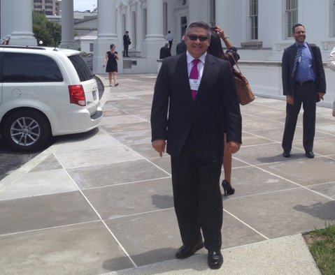 Supervisor Salud Carbajal at White House climate talks.