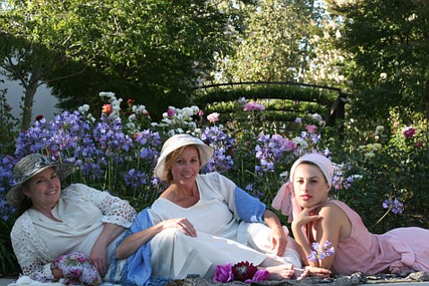 <b>THE SIRENS:</b> Jean Hall as Rose Arnott, Shannon Saleh at Lottie Wilton, and Britni Alleman as Lady Caroline Bramble star in <i>Enchanted April</i>.