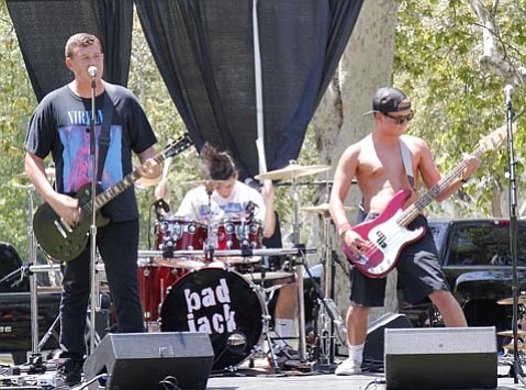 <b>ROCK OUT:</b>  Santa Barbara's Bad Jack is one of many area bands playing El Mercado del Norte as part of this week's Fiesta festivities.