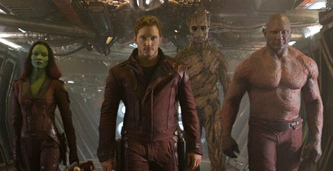 OOBA CHUCKA:  Marvel's<i> Guardians of the Galaxy</i>, starring Chris Pratt (center), is a rip-roaring sci-fi sensation that will leave you chanting '70s Swedish rock songs.