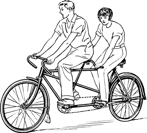 Tandem biking helped people with Parkinson's pedal faster, which seems cause a temporary improvement of symptoms.