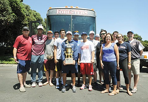 Santa Barbara Foresters return home with their fifth national championship.