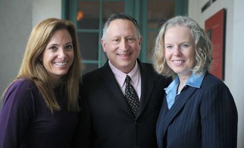 <b>LEND ME YOUR EARS:</b>  Dreams hatched in February by (from left) Jennifer Ferro of KCRW, Ron Gallo of the Santa Barbara Foundation, and Brenda Barnes of KUSC have been set back at least three months due to snags involving leasing details and legal fees.