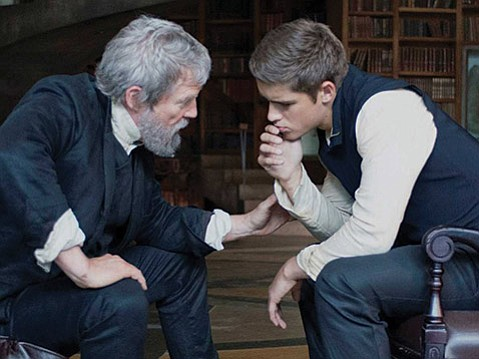 <b>FAILURE TO DELIVER:</b>  Despite a strong performance from Jeff Bridges (left, opposite Brenton Thwaites), The Giver doesn't live up to its source material