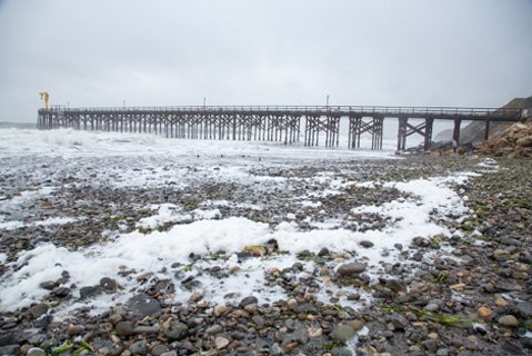The last 100 feet of the Gaviota Pier was demolished and swept away during a big storm in late February