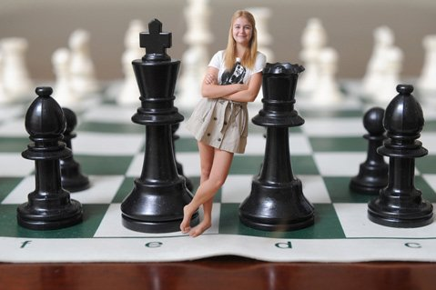 Agata Bykovtsev, 15, is at home on the chess board after winning the 2014 Pan American Youth Chess Championship.