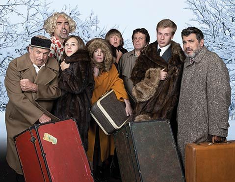 <b>WE ARE FAMILY:</b>  The Lit Moon cast of The Cherry Orchard prepares for a chilly Russian springtime.