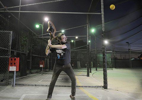 <b>DOUBLE PLAY:</b>  Spencer VonHershman is spearheading a new plan to bring live music to the East Beach Batting Cages. Last week, roughly 70 people turned out for the makeshift venue's first show.