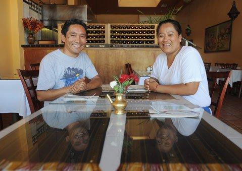 Himalayan Kitchen owner Karma Bhote and wife Diki Doma Bhote.