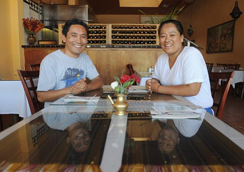 Himalayan Kitchen owner Karma Bhote and wife Diki Doma Bhote.