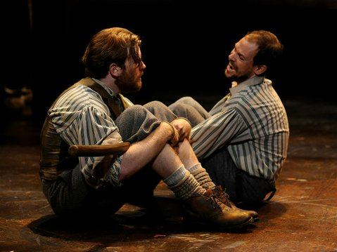 BAND OF BROTHERS: Mike Fiore (left) as Joseph and Nik Johnson as Liam in PCPA's <em>The San Patricios</em>.