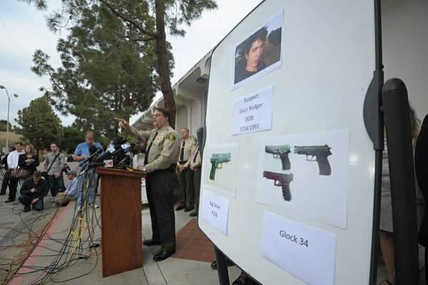 Elliot Rodger is officially named as the Isla Vista shooter and his legally purchased handguns were identified at a Santa Barbara Sheriff's press conference (May 24, 2014)