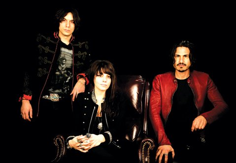 <b>THE POWER OF THREE:</b>  Political blues rockers The Last Internationale are (from left) guitarist Edgey Pires, singer Delila Paz, and drummer Brad Wilk. The band plays Velvet Jones on September 9.
