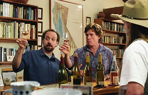 Paul Giamatti (left) and Thomas Haden Church star in Sideways.