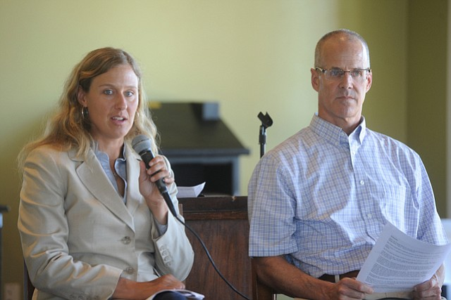 Goleta Water Board candidates Meg West and Charles McClure asserted their qualifications and concerns during a  forum at the Glen Annie Golf Club.