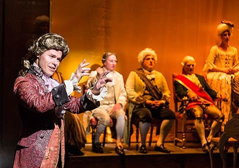 <b>THE COMPOSER CONDUCTS:</b>  Randy Harrison plays W.A. Mozart in Ensemble Theatre Company's Amadeus.