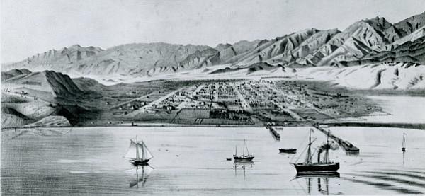 This map depicts Santa Barbara in 1873 and shows how the lower Eastside used to flood — thus Salsipuedes.