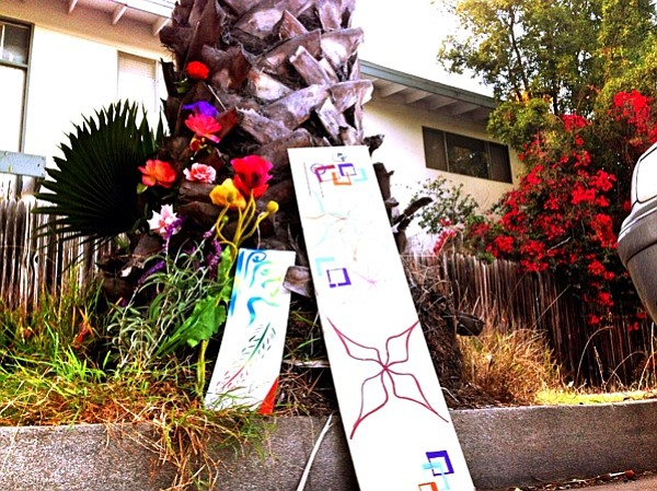 Tributes left near the tree where Richard usually parked.