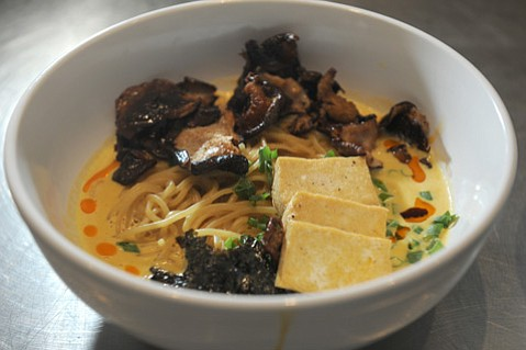 Chef treats Funk Zone foodies to rich noodle soup at Les Marchands.