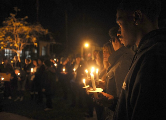 This vigil for Eric Garner, whose death at the hands of New York police was one of the earlier motivations for the #BlackLivesMatter movement, happened in front of the Santa Barbara County Courthouse In December 2014.