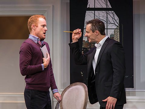 <b>MAN TO MAN:</b> Kasey Mahaffy (left) and Michael Polak star in <i>The Best Brothers</i>.