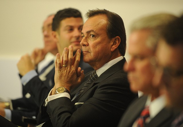 Miramar owner Rick Caruso listens to the Montecito Planning Commission deliberate over this third development proposal