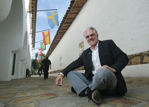 "<b>GET IT TOGETHER:</b> Literally sitting on El Paseo's ""Street in Spain,"" Hugh Margerum is coalescing nearby businesses into the Presidio Neighborhood so they can share marketing resources and co-promote this corner of downtown."
