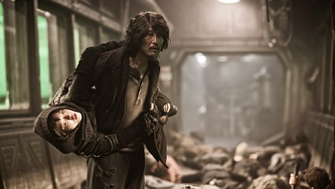 <b>ALL ABOARD: </b> <i>Snowpiercer</i>'s beautifully violent runaway train ride out of apocalypse barely saw a theatrical release.