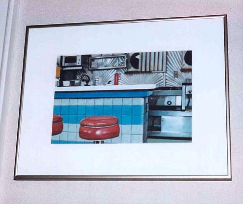 """Scottie's Diner, Pittsburgh. """"Are these your paintings?"""" I was asked."""