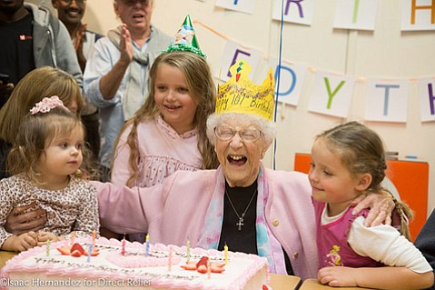 Edythe Kirchmaier celebrates her 107th birthday.